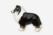 #458P-T - Sheltie Hand Painted Pin