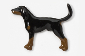 #453BP-BLT - Coon Hound Hand Painted Pin