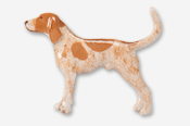 #453BP-RT - Coon Hound Hand Painted Pin
