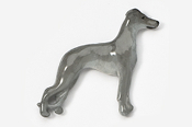 #453DP-B - Whippet Hand Painted Pin