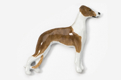 #453DP-BRW - Whippet Hand Painted Pin