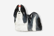 #862P-BW - Show Clip Shih Tzu Hand Painted Pin