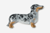 #462P-D - Smooth Dachshund Hand Painted Pin