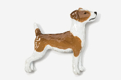 #461CP-RRW - Jack Russell Hand Painted Pin