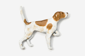#456P-OW - English Pointer Hand Painted Pin