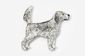 #457EP-BB - English Setter (with tail up) Hand Painted Pin