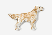 #457P-OB - English Setter Hand Painted Pin