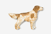 #457P-OW - English Setter Hand Painted Pin