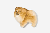 #851P-R - Pomeranian Hand Painted Pin