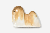 #857P-GW - Lhasa Apso Hand Painted Pin