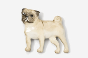 #861P-F - Pug Hand Painted Pin