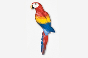#354P-S - Scarlet Macaw Hand Painted Pin