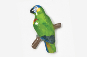 #357P-BF - Blue-fronted Amazon Parrot Hand Painted Pin