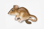 #419AP-B - Brown House Mouse Hand Painted Pin