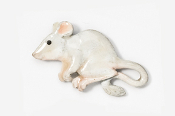 #419AP-DE - Dark Eyed White House Mouse Hand Painted Pin
