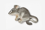 #419AP-G - Gray Mouse Hand Painted Pin