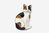 #439P-C - Calico Sitting Cat Hand Painted Pin