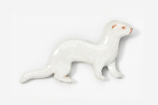 #414BP-A - Albino Ferret Hand Painted Pin