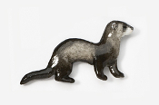 #414BP-BS - Black Sable Ferret Hand Painted Pin