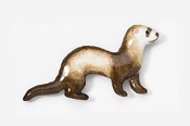 #414BP-S - Sable Ferret Hand Painted Pin
