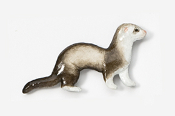 #414BP-SM - Silver Mitt Ferret Hand Painted Pin