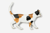 #438P-C - Walking Calico Cat Hand Painted Pin