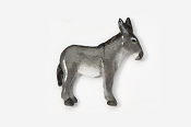#442P-G - Gray Mule Hand Painted Pin