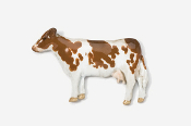 #445P-G - Guernsey Cow Hand Painted Pin
