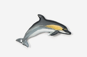 #475P-C - Common Dolphin Hand Painted Pin
