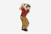 #904P-R - Red Shirt Golfer Hand Painted Pin