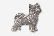 #880A - Powder Puff Chinese Crested Antiqued Pewter Pin