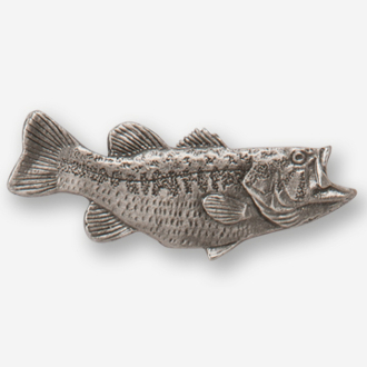 #D14210 - Largemouth Bass (right) Pewter Drawer Pull