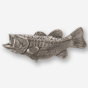 #D14220 - Largemouth Bass (left) Pewter Drawer Pull