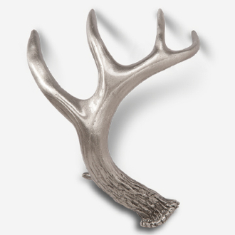 "#D146813 - Whitetail Antler 5"" (right, 3"" OC) Drawer Pull"