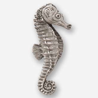 #D26910 - Seahorse (right) Pewter Drawer Pull