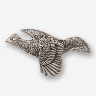 #D30920 - Flying Grouse (left) Pewter Drawer Pull