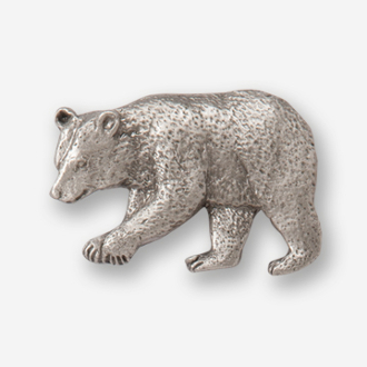 #D40520 - Black Bear (left) Pewter Drawer Pull