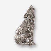 #D41810 - Howling Wolf (right) Pewter Drawer Pull