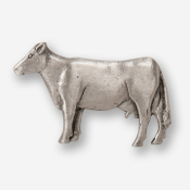 #D44550 - Cow (left) Pewter Drawer Pull