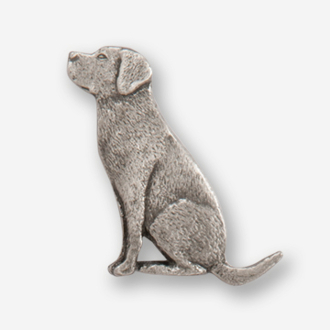 #D45020 - Labrador Retriever (left) Pewter Drawer Pull