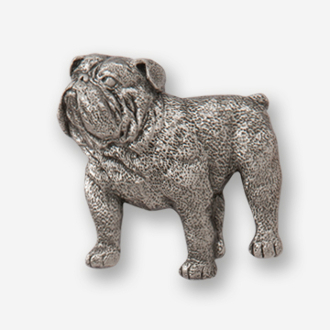 #D46310 - Bulldog (left) Pewter Drawer Pull