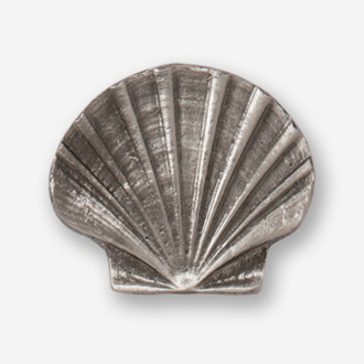 #D54110 - Scallop (flat) Pewter Drawer Pull