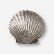 #D54120 - Scallop (convex) Pewter Drawer Pull