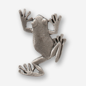 #D59100 - Tree Frog Pewter Drawer Pull