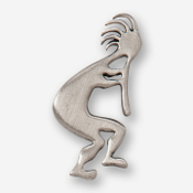 #D98010 - Kokopelli (right) Pewter Drawer Pull