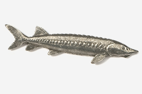 #151 - Sturgeon Antiqued Pewter Pin