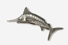 #208 - Marlin Antiqued Pewter Pin