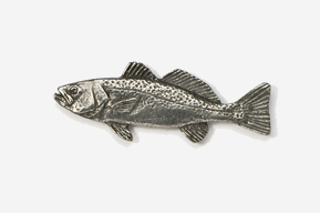 #211 - Weakfish Antiqued Pewter Pin