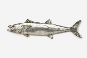 #219 - King Mackerel Antiqued Pewter Pin