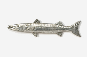#220 - Barracuda Antiqued Pewter Pin
